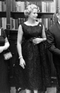 Princess Grace Pregnant black lace dress