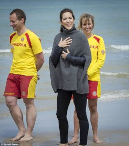 Princess Mary beach poncho