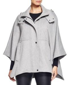 DKNY hooded cape coat.