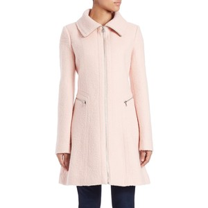 Jessica Simpson pale pink zip front walker coat