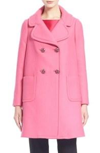 Kate Spade pink car coat