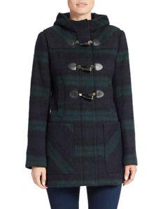 Michael Kors plaid toggle coat