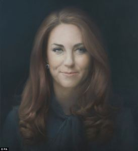 Paul Emsley Portrait Duchess of Cambridge Pussy Bow Blouse