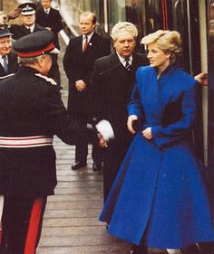 Princess Diana cobalt blue dress coat