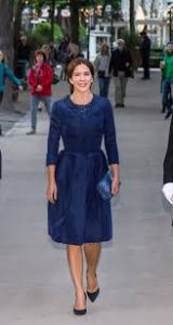 Princess Mary cobalt blue Klein coat dress concert Melbourne