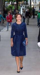 Princess Mary cobalt blue Klein coat dress concert Melbourne
