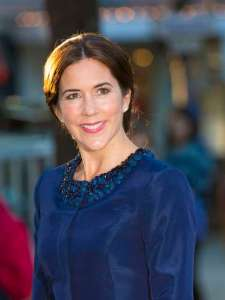Princess Mary cobalt blue Klein coat dress