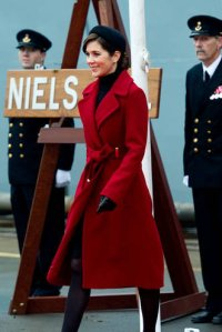 Princess Mary red Diane Von Furstenberg jacket