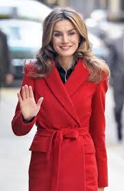 Queen Letizia red coat