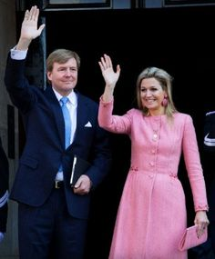 Queen Maxima pink coat day after coronation