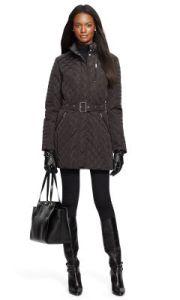 Ralph Lauren belted quilted jacket