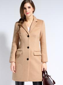 Romwe camel coat