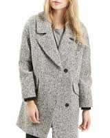 Topshop gray slouchy coat