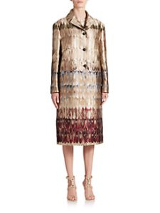 Valentino Brambolina Brocade han painted coat