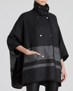 Vince blanket striped cape coat
