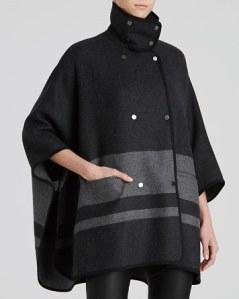 Vince blanket striped cape coat