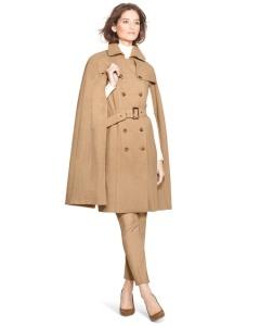 White House Black Market cape trench coat