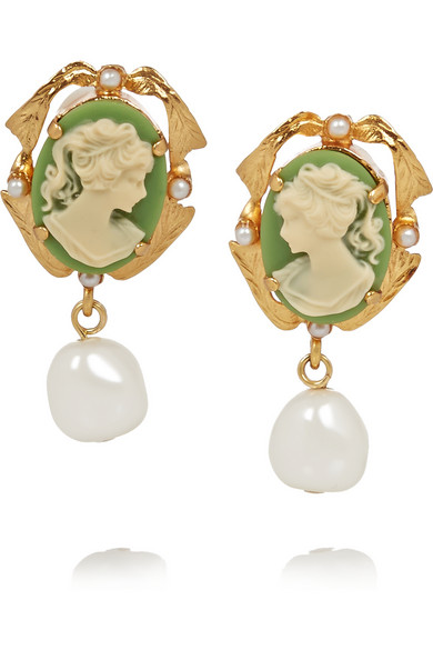 Dolce and Gabbana Cameo earrings