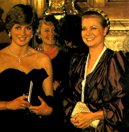 Lady Diana and Princess Grace