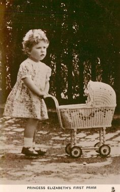 Queen Elizabeth with Pram
