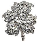 Crystal Brooch leaf