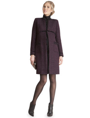 Seraphine Purple Coat