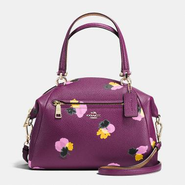Coach purple floral